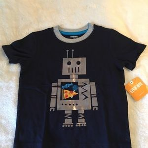 Gymboree Shirts & Tops - Gymboree Robot Pizza Boys T-shirt